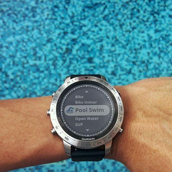 Garmin Chronos waterproof smartwatch for outdoor activities and swimming