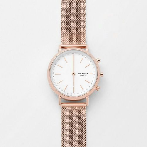 Skagen Mini Hald Rose hybrid smartwatch for women
