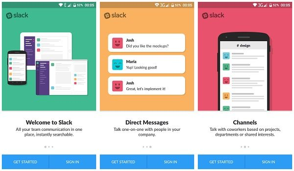 Slack team communication app