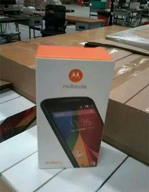 Moto G2 package box