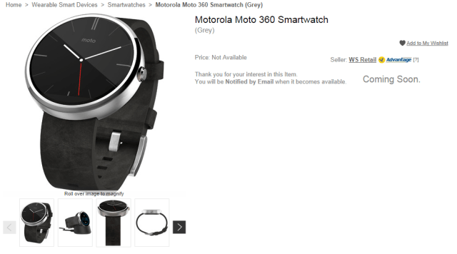 Moto 360 coming to India