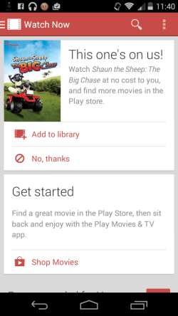 Google Play Movies & Tv gets Android L design