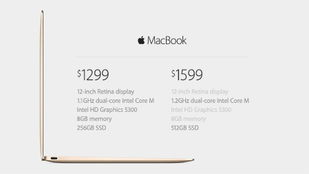 The new MacBook is super thin priced  $1,299