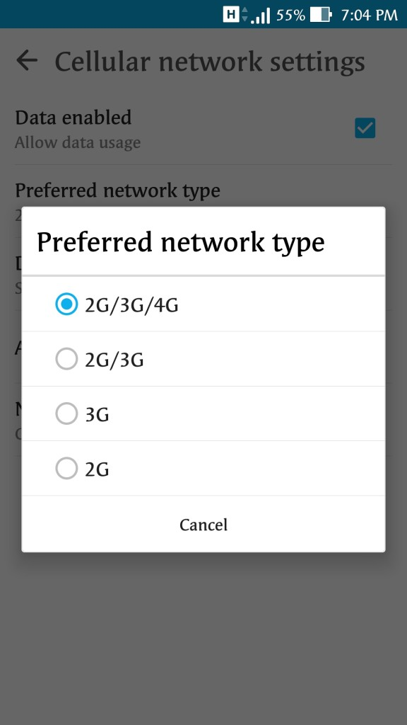 How to Switch between 2G/3G or 4G internet on your Android Mobiles