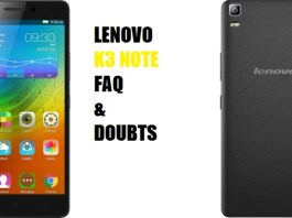 Lenovo K3 Note FAQ and doubts answered