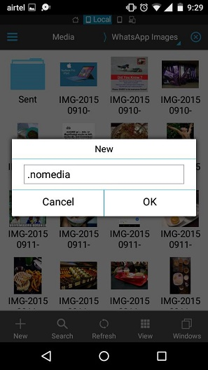 hide WhatsApp images and videos from Android Galleryq