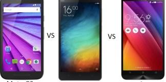 Moto G (3rd Gen) Vs Xiaomi Mi4i Vs Asus Zenfone 2 ZE550ML