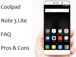 Coolpad Note 3 Lite FAQ, Queries, Pros and Cons