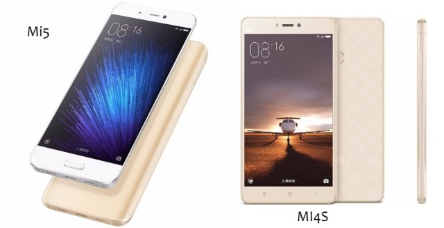 Xiaomi Mi5 Vs Xiaomi Mi4s comparison - know the differences