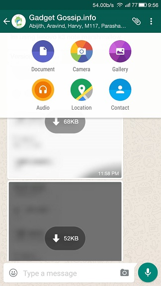 Now Send and receive Decuments like PDF in WhatsApp