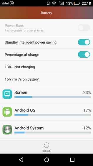 Honor Holly 2 Plus review - Battery usage