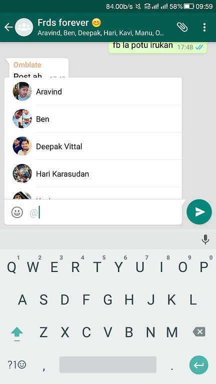 Latest WhatsApp update allows to send GIF and mention people