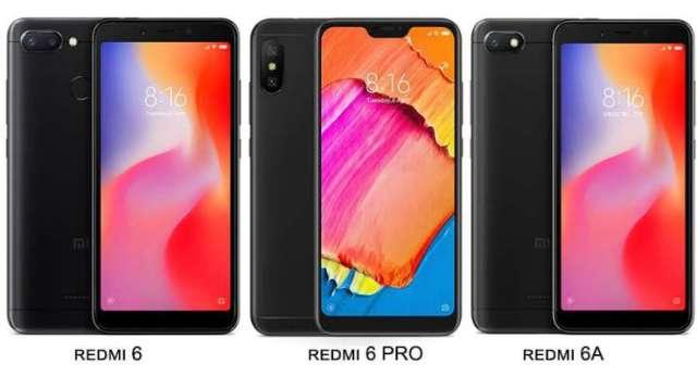 Xiaomi launched Redmi 6A, Redmi 6 and Redmi 6 Pro in India