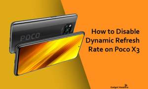 How to Disable Dynamic Refresh Rate on Poco X3