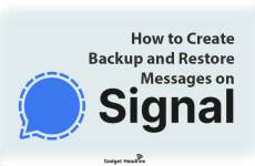 Create Backup and Restore on Signal Messenger