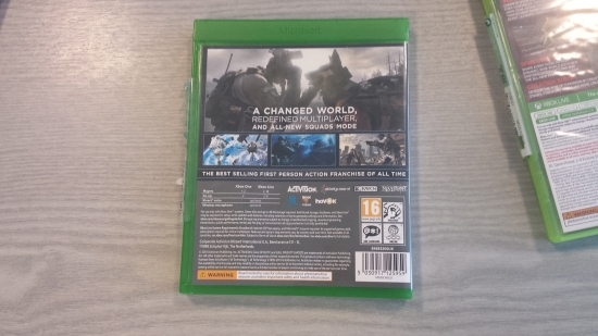 Gallery Xbox One Game Case Back