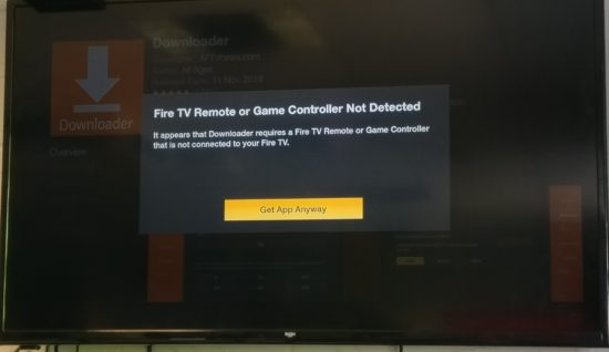 fire tv remote not detected