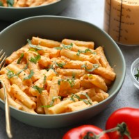 vegan pasta in bowl