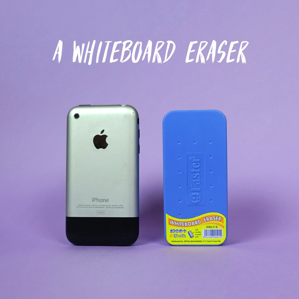 A whiteboard eraser