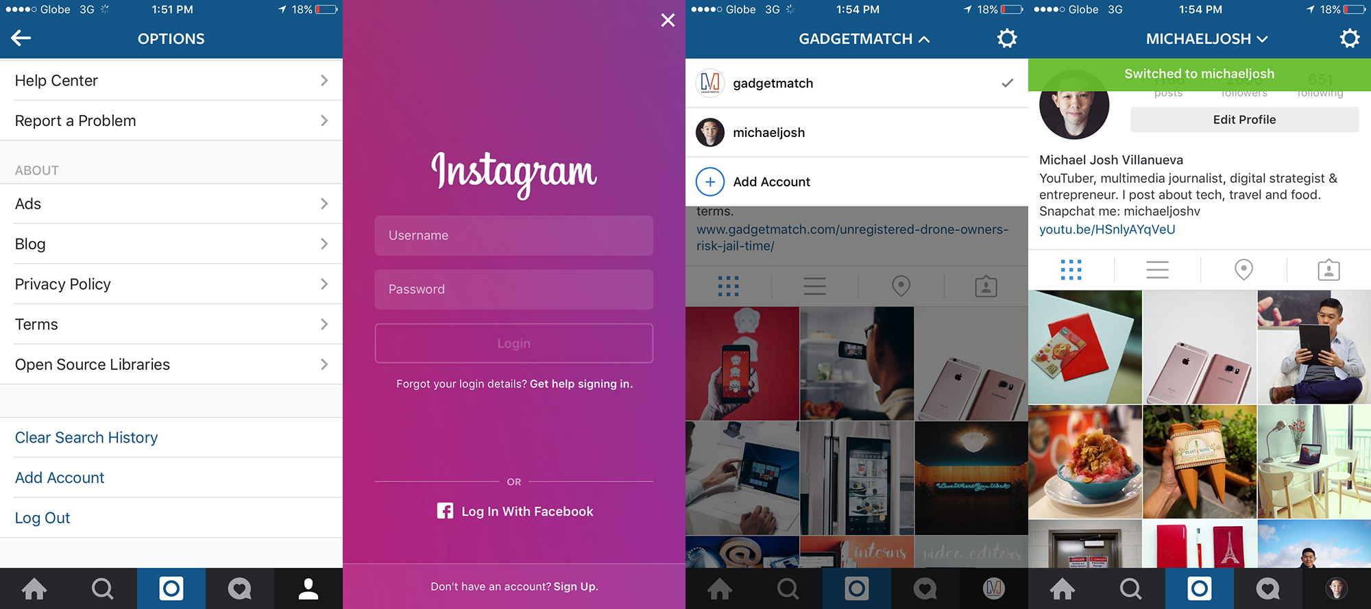 Instagrammultipleaccountsswitchsteps20160209 How To Delete Multiple Twitter  Direct Messages
