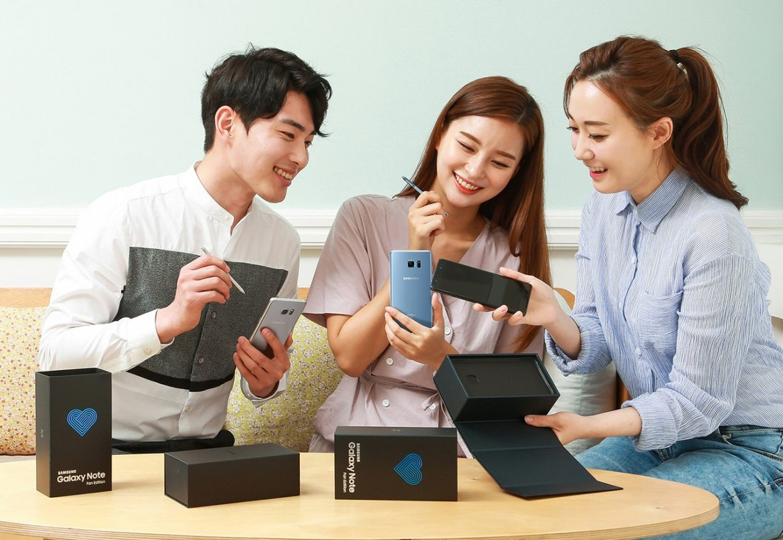 Galaxy Note FE Korea Launch