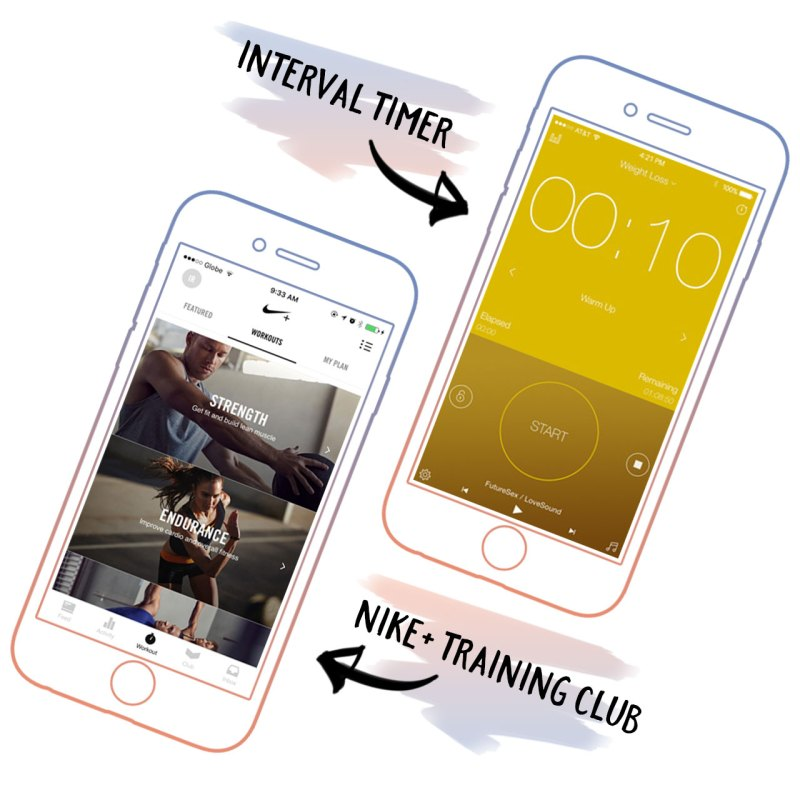 Interval Timer and Nike Training Club are great workout apps