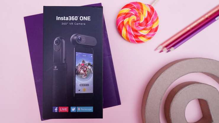 Insta360 ONE boxed