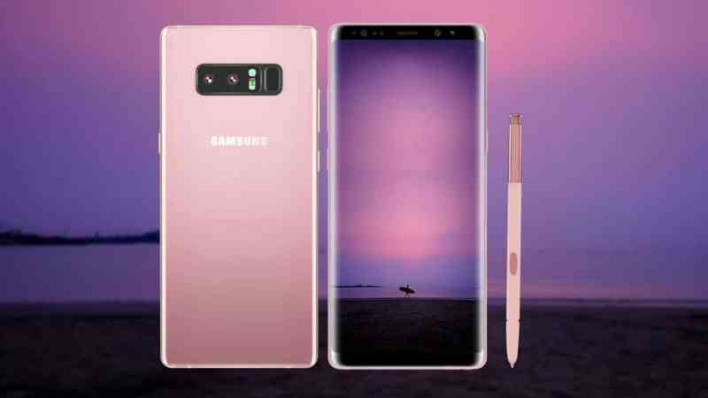 Samsung Galaxy Note 8 comes in Star Pink!