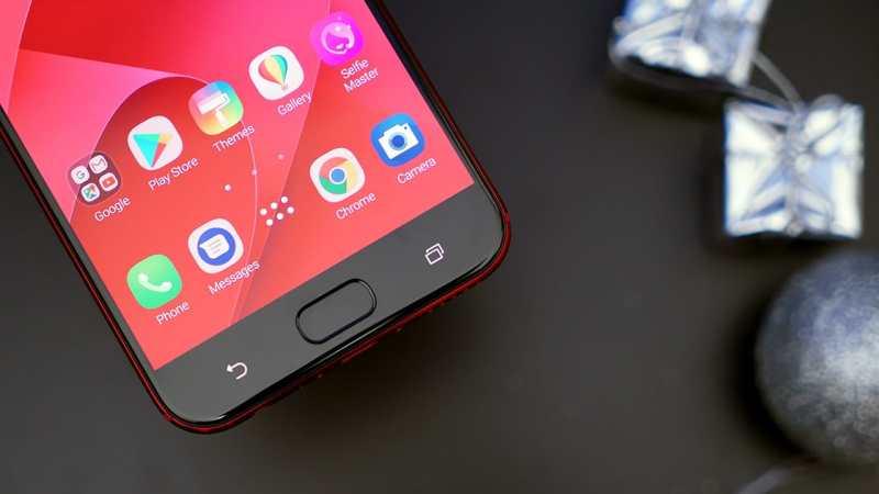 Red ASUS ZenFone 4 Selfie Pro butons