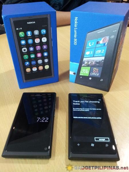 Nokia N9 vs Nokia Lumia 800