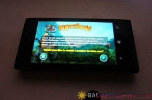 Kinectimals on Lumia 800