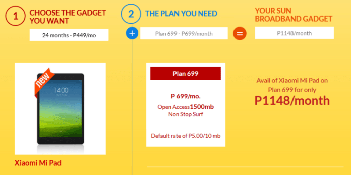 Mi Pad Sun Cellular, Mi Pad is Now Available For As Low as PhP699 a Month via Sun Cellular, Gadget Pilipinas, Gadget Pilipinas