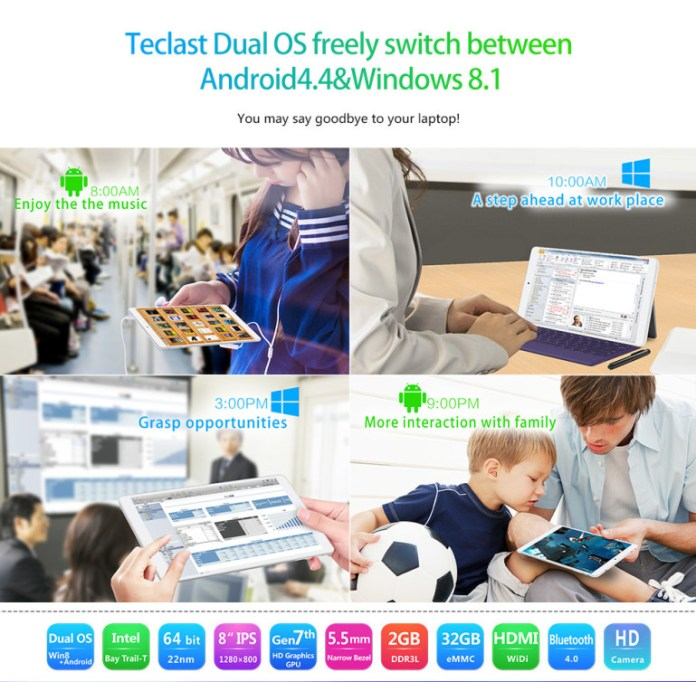Dual Boot Feature of Teclast X80 HD