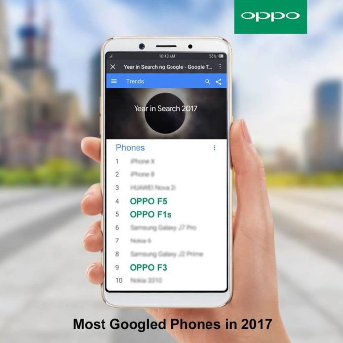 OPPO, OPPO F5 and F1s are among the most searched Googled smartphones, Gadget Pilipinas, Gadget Pilipinas