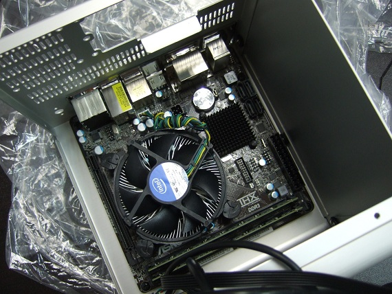 Able to fit a standard heatsink + fan