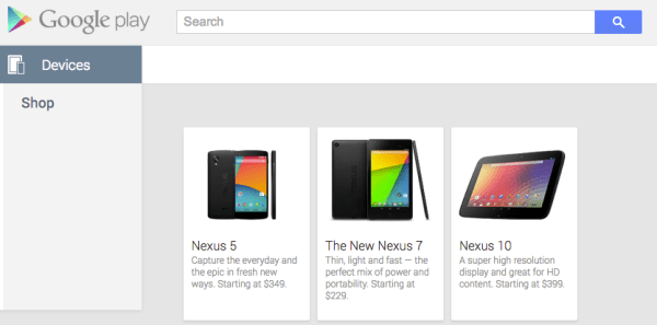 nexus 5 scren shot play store