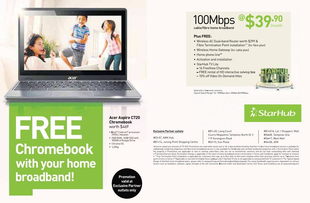 nice starhub home broadband plan. starhub chromebook acer c720 Starhub Restarts Chromebook Acer C720 Promotion Again  GadgetReactor
