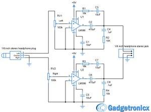 Headphone Amplifier Circuit  Gadgetronicx