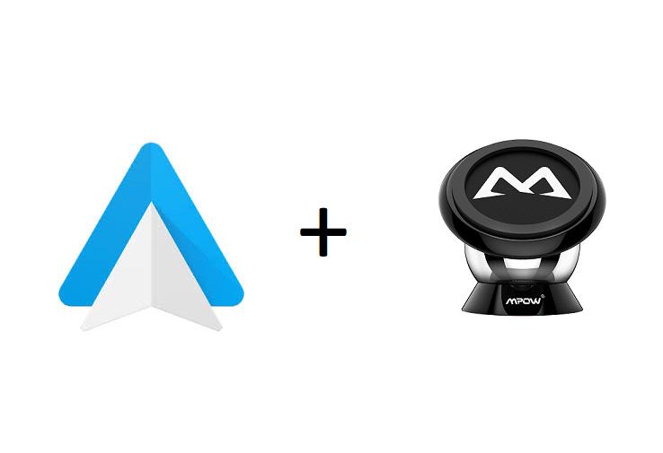 Android auto y un buen soporte de coche para tu móvil