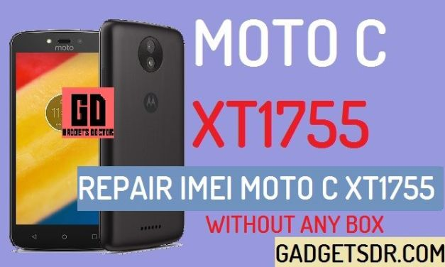 How to Repair IMEI MOTO C XT1755 (Without Box)