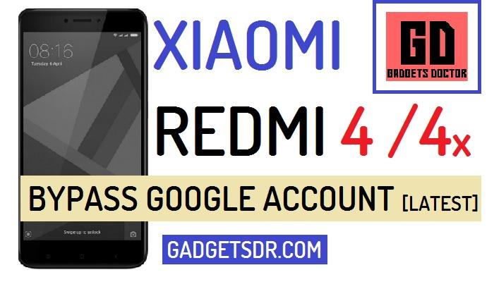 Remove MI Account Xiaomi Redmi 4 and 4X (MIUI-9)