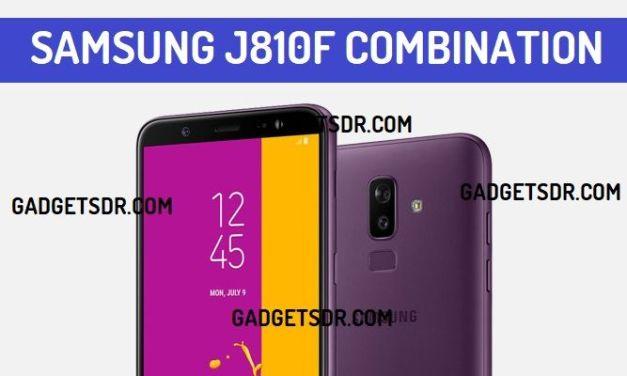 Samsung J8 SM-J810F Combination File (Firmware Rom)