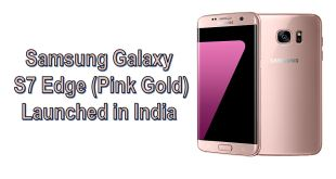 Samsung Galaxy S7 Edge Pink Gold color