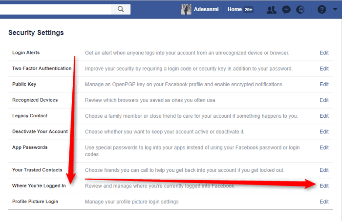 How to Logout Facebook Account on All Devices