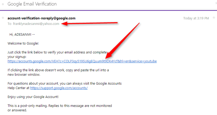 Create YouTube account without Gmail account