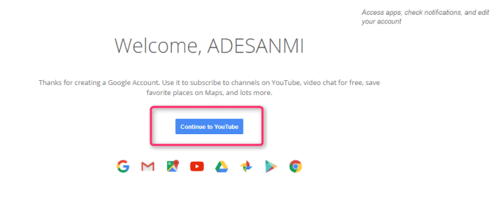 Sign in to YouTube account without Gmail