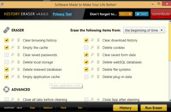 Google Chrome History eraser
