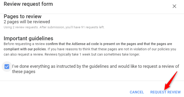 Google Adsense Page Level Policy Violation