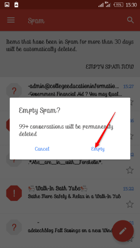 How to Delete Spam & Trash Messages in Gmail on Android Phones