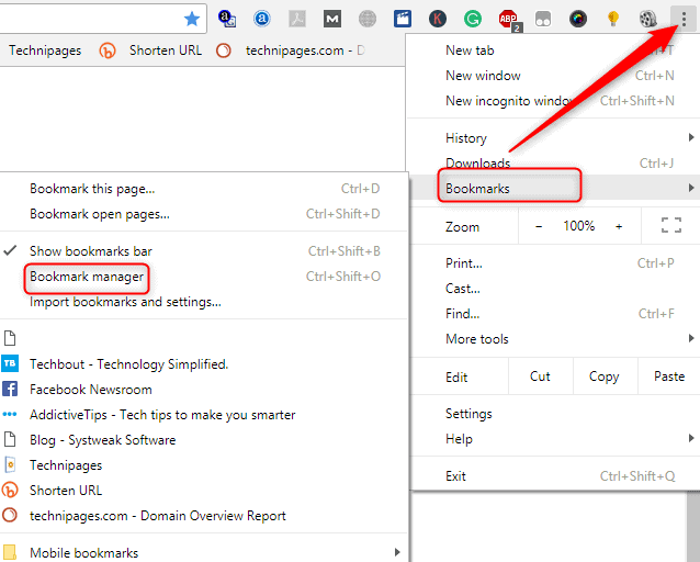How to Disable Google Chrome Bookmarks